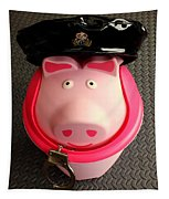 Officer Bacon Wants A Doughnut Tapestry
