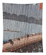 Ohashi Sudden Shower At Atake Tapestry