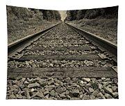 Ohio Train Tracks Tapestry