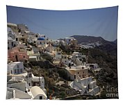 Oia By Day Tapestry