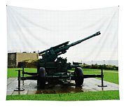 Oil Painting - Anti Aircraft Gun At Dover Castle Tapestry