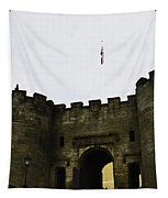 Oil Painting - British Flag Over A Doorway Inside The Stirling Castle Tapestry