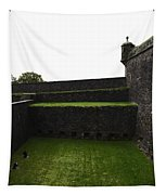 Oil Painting - The Depth Of The Moat Now Covered With Grass At Stirling Castle Tapestry