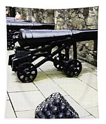 Oil Painting - Tourists And Cannons With Ammunition At The Wall Of Stirling Castle Tapestry