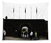 Oil Painting - Tourists Inside The Stirling Castle In Scotland Near The Entrance Tapestry