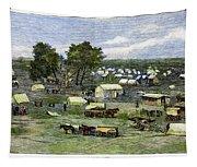 Oklahoma City, 1889 Tapestry