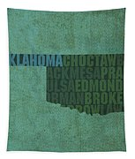 Oklahoma Word Art State Map On Canvas Tapestry by Design Turnpike