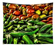 Okra And Tomatoes Tapestry