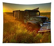 Old Abandoned Farm Truck Tapestry