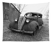 Old And Forgotten Black And White Tapestry