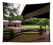 Old Appalachian Barn Yard Tapestry
