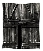 Old Barn Door - Bw Tapestry