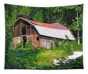 Old Barn Near Chimney Rock Tapestry