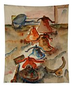 Old Bells To Pasture Tapestry