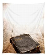Old Bible In Divine Light Tapestry