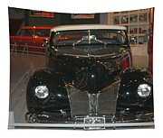Old Black And White Hardtop Tapestry