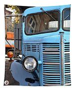 Old Blue Jalopy Truck Tapestry