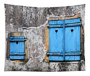 Old Blue Shutters Tapestry