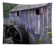 Old Cades Cove Mill Tapestry