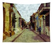 Old Cartagena 1 Tapestry