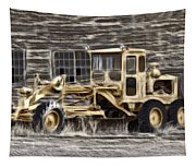 Old Cat Grader Tapestry