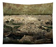 Old City Of Toledo Tapestry