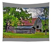 Old Country Barn Tapestry