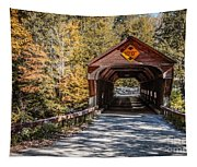Old Covered Bridge Vermont Tapestry