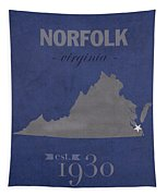 Old Dominion University Monarchs Norfolk Virginia College Town State Map Poster Series No 085 Tapestry