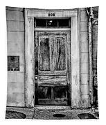 Old Door - Bw Tapestry