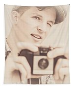 Old Fashion Male Freelance Photographer Tapestry