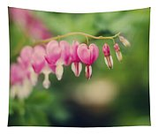 Old Fashioned Bleeding Hearts Tapestry