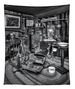 Old Fashioned Dentist Office Bw Tapestry