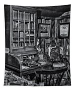 Old Fashioned Doctor's Office Bw Tapestry