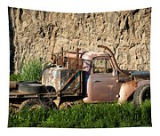 Old Flatbed International Truck Tapestry