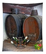 Old French Wine Casks Tapestry