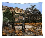 Old Gate At Oak Flats Tapestry
