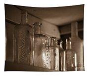 Old Glass Bottles Tapestry