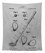 Old Golf Club Patent Illustration Tapestry