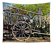Old Hay Wagon Tapestry