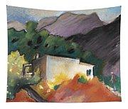 Old House In Altea La Vieja 02 Tapestry