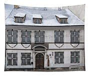 Old House In Riga Tapestry