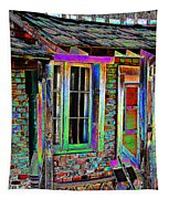 Old House Pop Art Tapestry