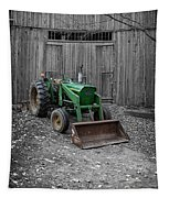 Old Tractor By The Barn Etna New Hampshire Tapestry