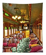 Old Lounge Car From Early Railroading Days Tapestry