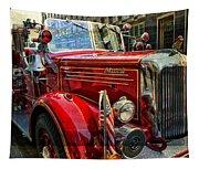 Old Mack Firetruck Tapestry