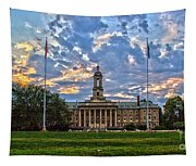 Old Main At Sunset Tapestry