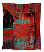 Old Milk Pail Pop Art Tapestry