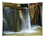 Old Mill Water Wheel Tapestry