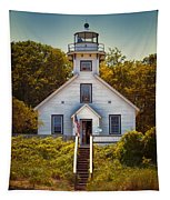 Old Mission Point Light House 02 Tapestry